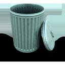 bin open, открытый мусорный бак