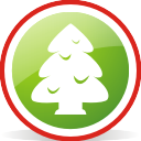 christmas, tree, rounded