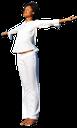 девушка в белом, медитация, белый, брюнетка