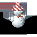snowman, winter, зима, снеговик