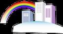 городское здание, архитектура, радуга, city building, architecture, rainbow, stadt gebäude, architektur, regenbogen, construction de la ville, l'architecture, arc en ciel, edificio de la ciudad, arquitectura, arco iris, costruzione di città, architettura, arcobaleno, construção da cidade, arquitetura, arco-íris, міська будівля, архітектура, веселка