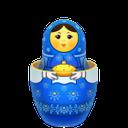 blue, matreshka, inside
