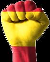 рука, кисть руки, жест, пальцы, часть тела, ладонь, открытая ладонь, пальцы руки, указательный палец, флаг испании, испания, мадрид