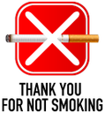 thank you for not smoking symbol