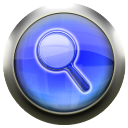 classic blue magnifying glass