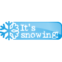 its, snowing, button