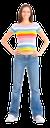 девушка в джинсах, голубые джинсы