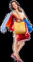 покупки, девушка с пакетами, покупатель, пакет с подарками, подарочная упаковка, шопинг, супермаркет, магазин, радость