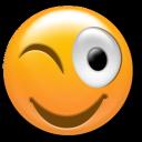 smile, wink, a, 256