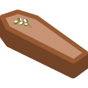 emoji, coffin