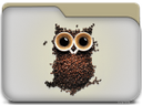folder coffee, owl, папка кофе, сова
