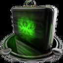 briefcase green