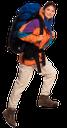 турист, девушка с рюкзаком, поход