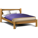 double, bed