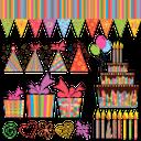 праздничные украшения, торт, подарки, свеча, бумажный колпак, воздушные шарики, гирлянда, флажки, holiday decorations, cake, gifts, candle, paper cap, balloons, garland, flags, urlaub dekorationen, kuchen, geschenke, kerzen, papier hut, luftballons, girlanden, fahnen, décorations de noël, gâteaux, cadeaux, bougies, chapeau de papier, ballons, guirlandes, drapeaux, decoraciones de fiesta, pastel, regalos, sombrero de papel, globos, guirnaldas, banderas, decorazioni di festa, torta, regali, candela, cappello di carta, palloncini, ghirlande, bandiere, decorações do feriado, bolo, presentes, velas, chapéus de papel, balões, guirlandas, bandeiras, святкові прикраси, подарунки, свічка, паперовий ковпак, повітряні кульки, гірлянда, прапорці