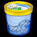 papelera, llena, full trash bin, полная мусорная корзина