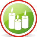 candles, rounded