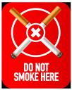 do not smoke here symbol