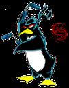 ninja penguin, пингвин ниндзя, игра, game, нунчяки, животное, animal