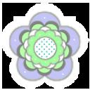 kitschy flower 5dlavender green