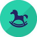 horse ride christmas icon