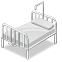 hospital, bed, 128