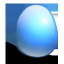 huevo, azul, luz