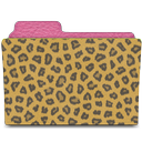 rebelheart faux lotus & leopard leather