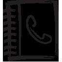 phone, book