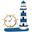 clock, lighthouse, beacon, часы, маяк