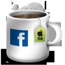 facebook, фейсбук, tea cup, чашка чая, social network, соцсеть, социальная сеть