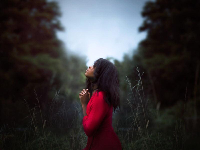 woman grateful