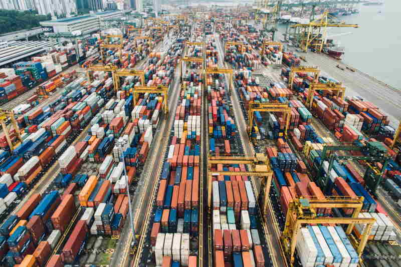 containers port importing goods