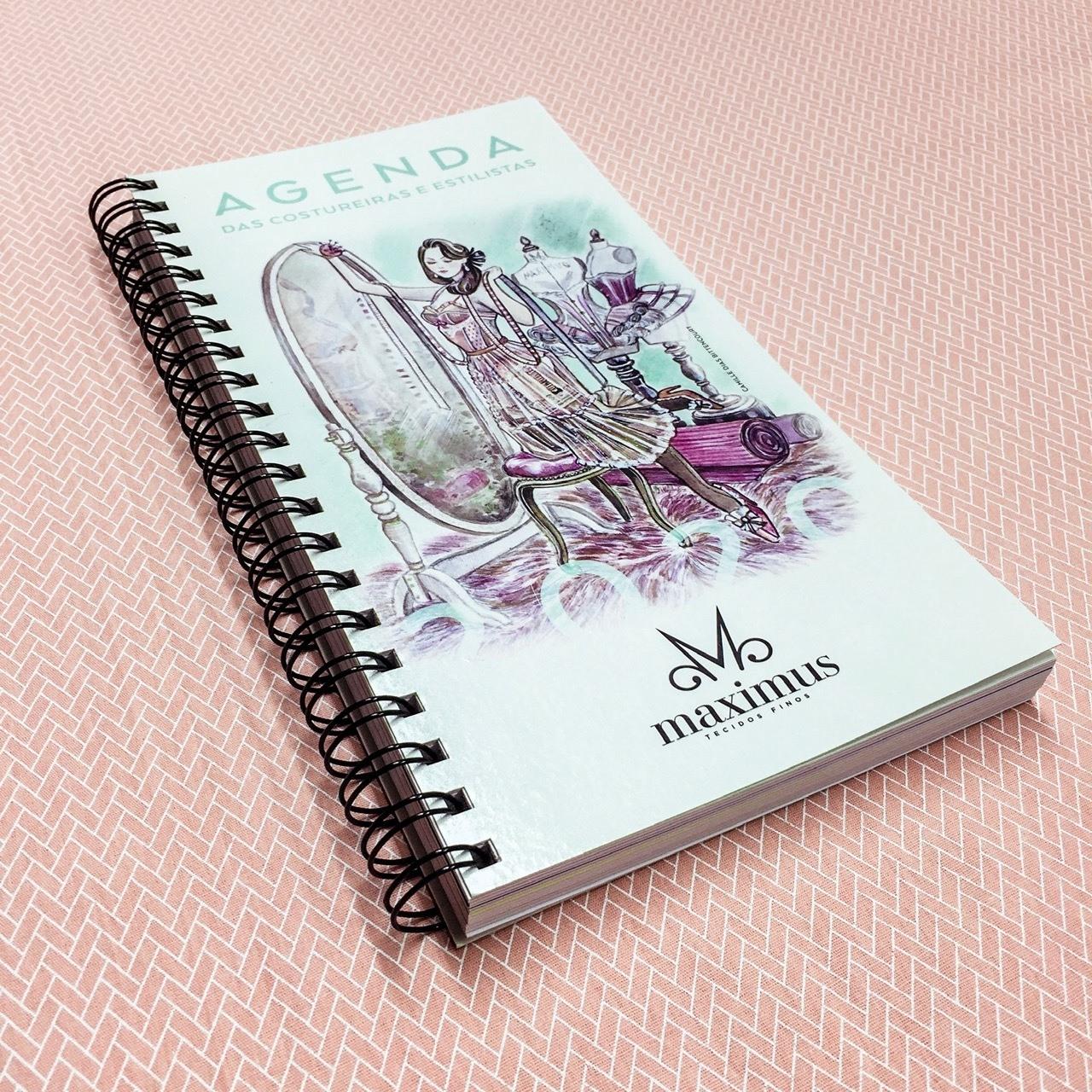 Agenda caderno de medidas e desenho para costureira 2020