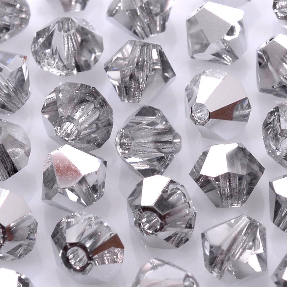 Balão de Cristal Preciosa Prata Cristal Labrador 4mm 720pcs