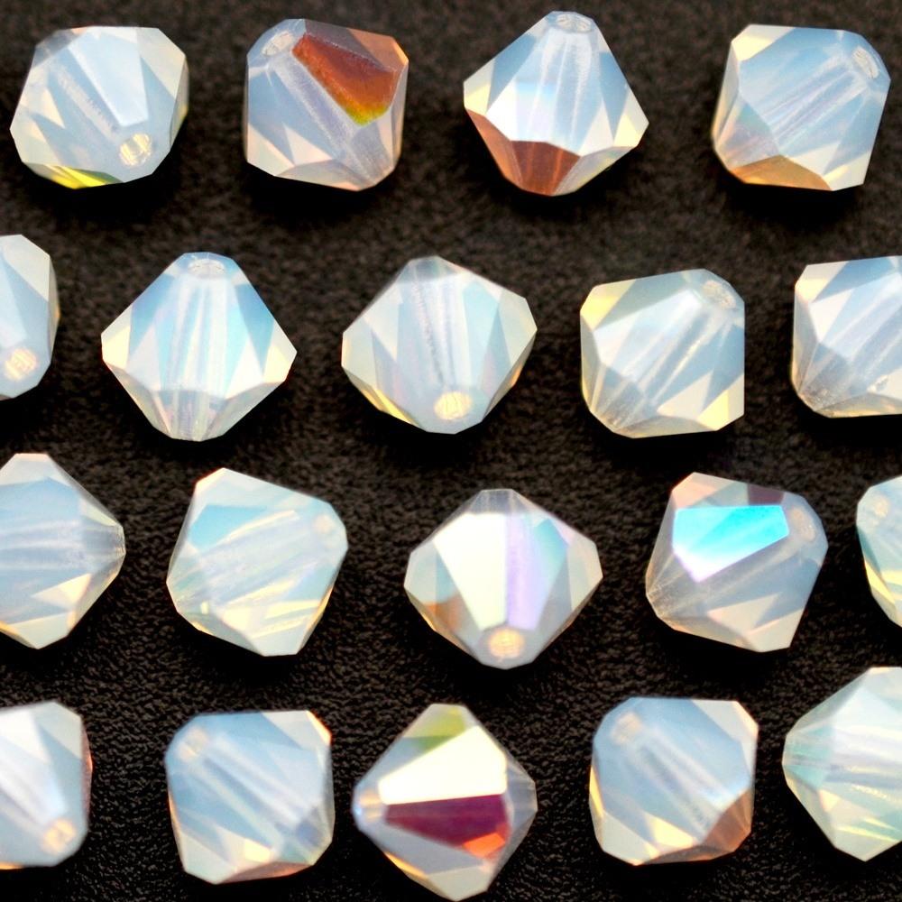 Balão de Cristal Preciosa White Opal AB 2X 4mm 720pcs