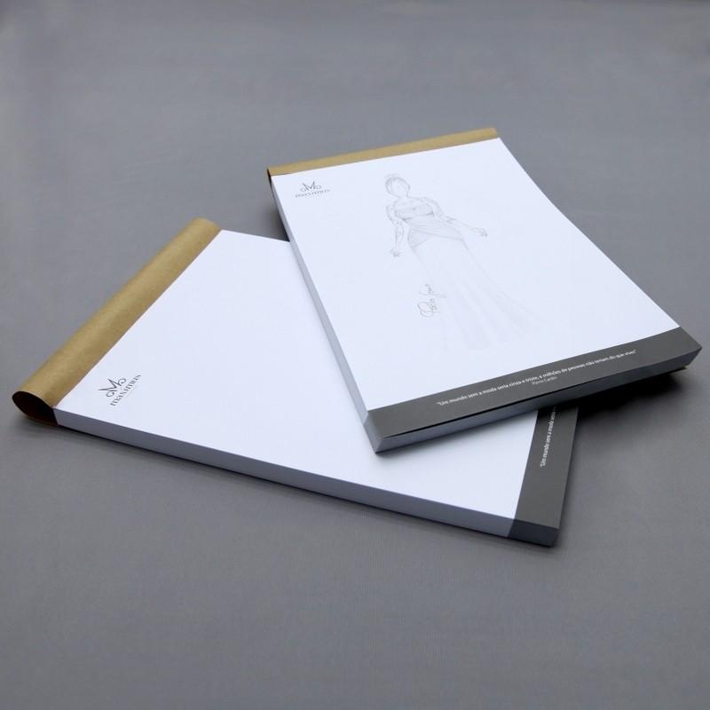 Bloco de papel p/ desenho Maximus 120g/m² A4 - 100 folhas