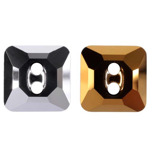 Botão de Cristal Lapidado Swarovski® art. 3017 Cristal Dourado (001 DOR) 12mm