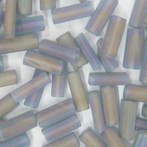 Canutilho Chiclete Preciosa® Ornela Cinza Aurora Boreal (41010) 10x3,5mm