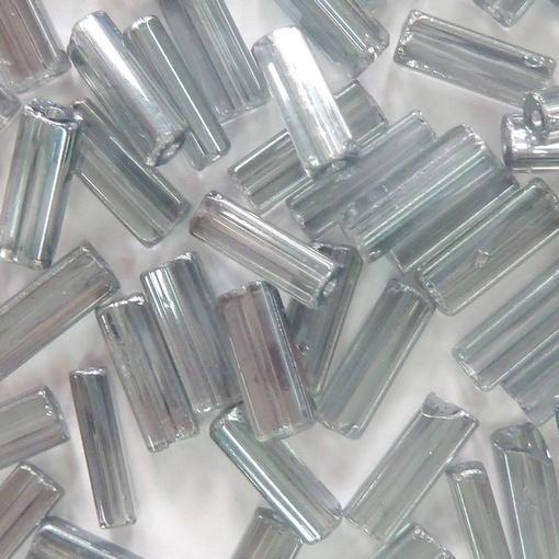 Canutilho Chiclete Preciosa® Ornela Cinza Transparente Total (40010) 10x3,5mm