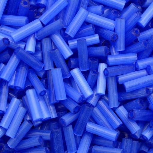 Canutilho de Vidro Preciosa®Ornela/Jablonex Azul Seda Transparente Total Seda (35061) 3 polegada=7mm
