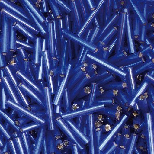 Canutilho de Vidro Preciosa®Ornela/Jablonex Azul Transparente Espelhado Prata (37050) 15mm