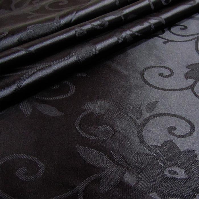 Tecido Cetim Brocado Preto
