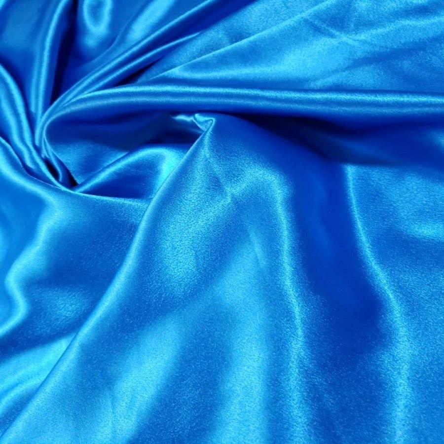 Cetim Mellow Toque de Seda Azul Turquesa
