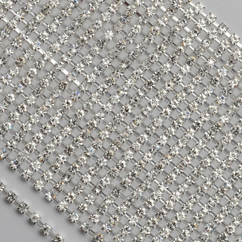 Corrente Niquel LDI strass Cristal SS12=3mm 10mts