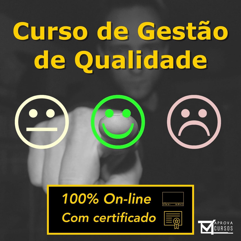 Curso online em videoaula sobre Gestão de Qualidade com Certificado