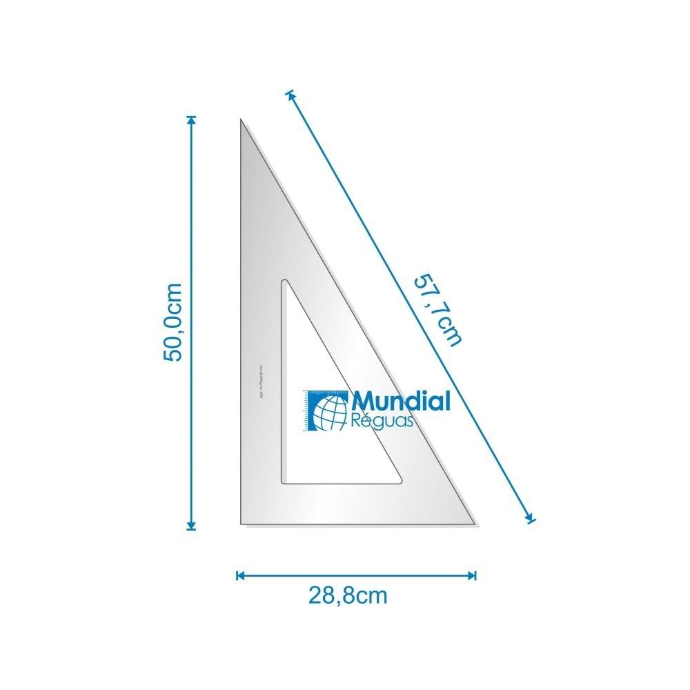 Esquadro 60° 50 cm