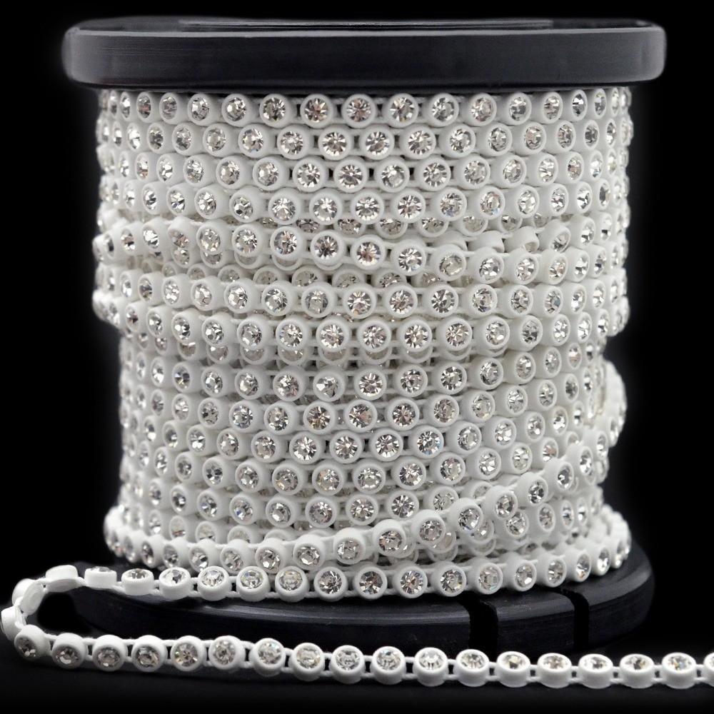 Fio Plastico cx branca LDI Strass Cristal SS 8=2,4mm 10mts