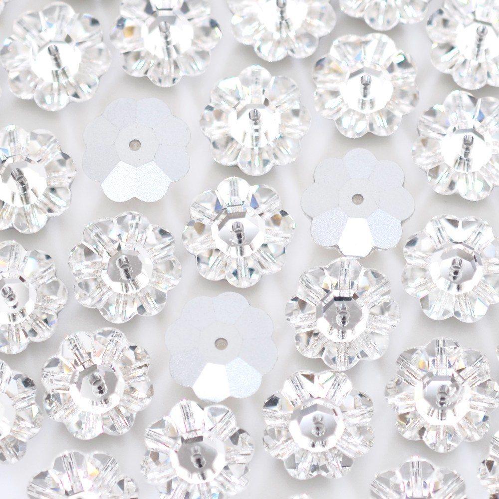 Flor Costura Preciosa Cristal 14mm 144pcs