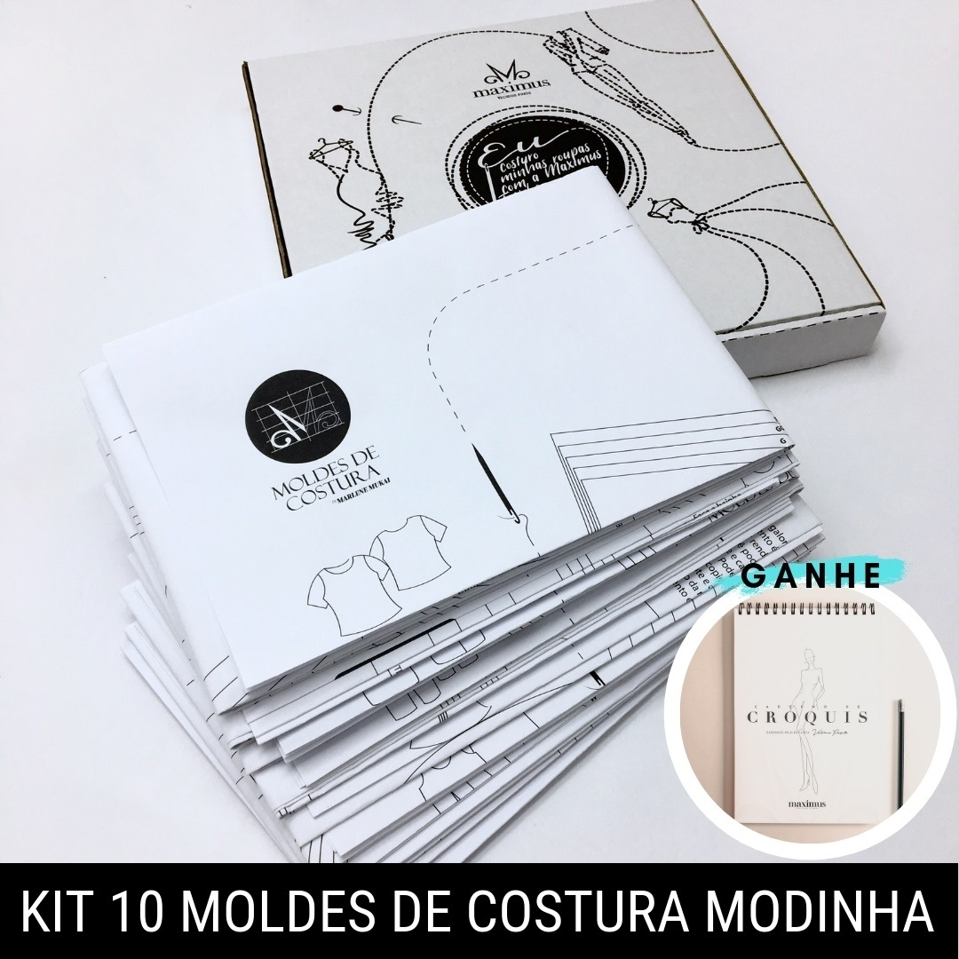 Kit 10 moldes de costura modinha - Marlene Mukai